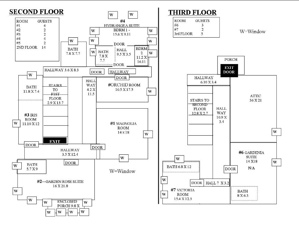 2nd 3rd Level Floor Plan