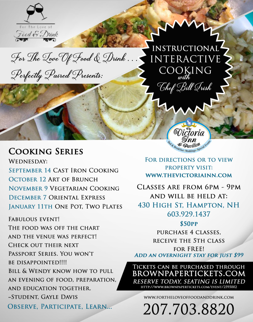 Victoria Inn Fall Cooking Series