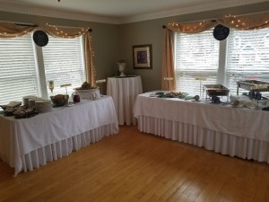 Buffet Room Set up