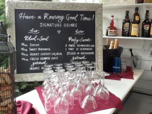 sign drinks